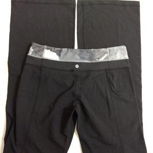 Lululemon Wide Leg Yoga Pants SZ 10 Tall Black